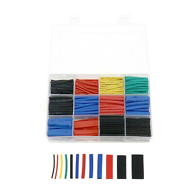 560pcs 1-13mm Heat Shrink Tubing Cable Kit 5 Color 12 Size With Plastic Box