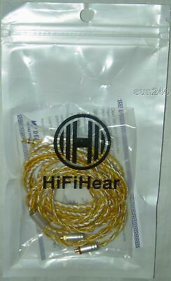 Used HiFiHear 16 Core 3.5mm MMCX Silver Plated Earphone Headphone IEM Cable