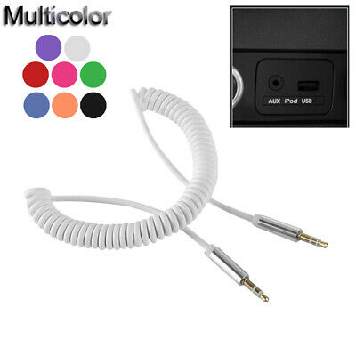 Wire Line 3.5mm Stereo Audio Cable Jack Male to Male  Car Aux Auxiliary Cord