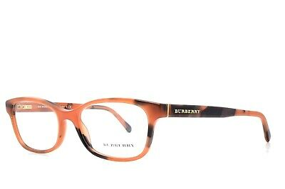 1cab948cd030 BURBERRY B 2201 3518 Eyeglass Frames Spotted Amber 52-17-140 New ...