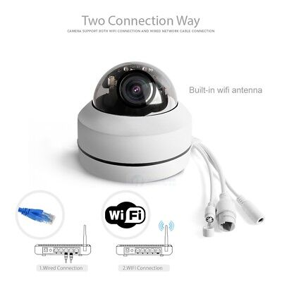 1080P 4X Zoom Lens Wireless Wi-Fi PTZ Dome IP Camera Audio Outdoor SD