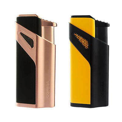 COHIBA Creative Windproof Lighter 3 Torch Jet Flame Metal Cigar lighters W/Punch