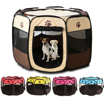 Pet Tent Portable Playpen Dog Folding Crate Dog House Puppy Kennel Cat Cage