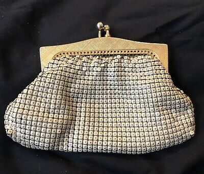 Vintage Glomesh Australia Ivory Metal Mesh Coin Purse In Vg Condition Some Wear