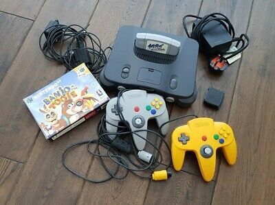 NINTENDO 64 N64 Console With Two Games