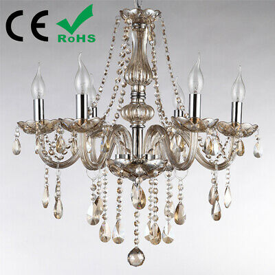 K9 Crystal Chandelier Champagne 6,8,10 Arms Candle Pendant Lamp Ceiling Light
