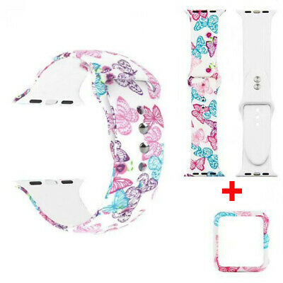 Butterfly sport Silicone Apple Watch Strap For iwatch series 4 3 2 1 wrist band