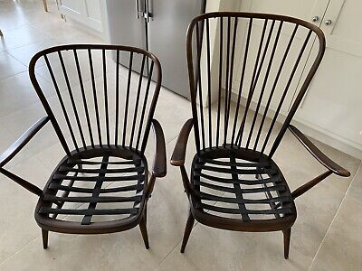 Pair Of Vintage Ercol Armchairs Mid Century