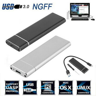 M.2 NGFF to USB 3.1 Type-C SATA SSD Converter Adapter Enclosure Case 10Gbps UK