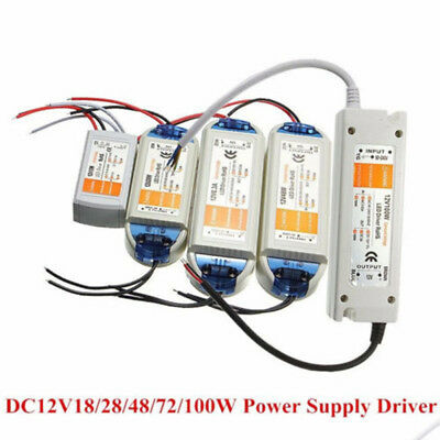 1xLED Driver Adapter AC90-240V To DC 12V Transformer Power Supply For LED Strip