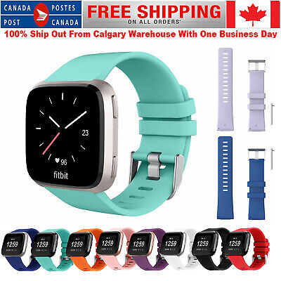 For Fitbit Versa Smart Watch Silicone Bracelet Wrist Band Clasp Strap Replace