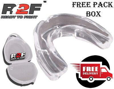 Gel Gum Shield & Case Teeth Grinding Mouth Guard Boxing MMA Rugby Mouthpiece