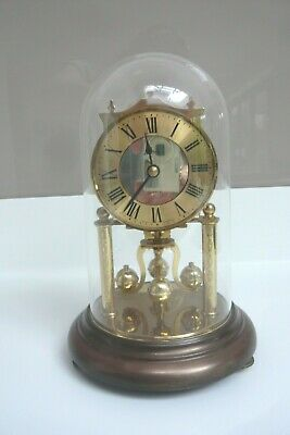 KERN Vintage Plexi-glass Anniversary Style Dome Clock - Made in West Germany