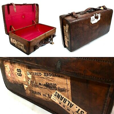 Antique Campaign Army & Navy Cooperative Society Leather Gentleman's Travel Bag