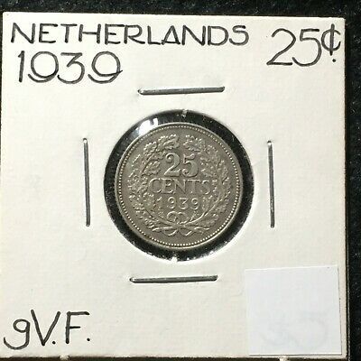 1939 - 25 cent coin Netherlands