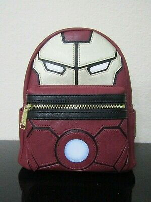 Loungefly Marvel Iron Man Light-Up Arc Reactor Mini Backpack New with Tags