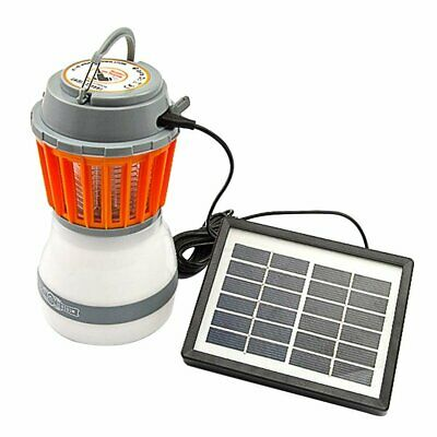 Solar Powered USB Rechargeable LED Mosquitoes Repellent Lamp Light Orange