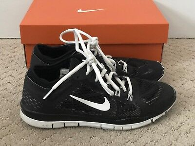 fffb3be350754 NIKE FREE 5.0 Womens Size Running Shoes Black White Silver Sneakers ...