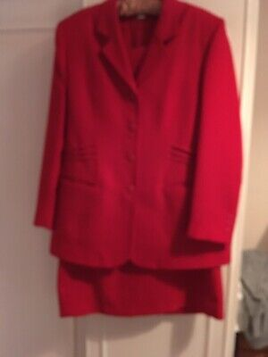 Wedding Guest Red Dress And Jacket Size 16
