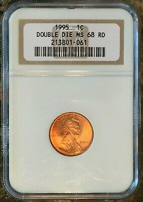 DDO 1995 Lincoln Memorial Cent NGC MS68 RD : Bold Doubling On Obverse