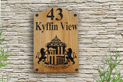Personalised Carved Letters Numbers House Wooden Sign Plaque Outdoor Logo