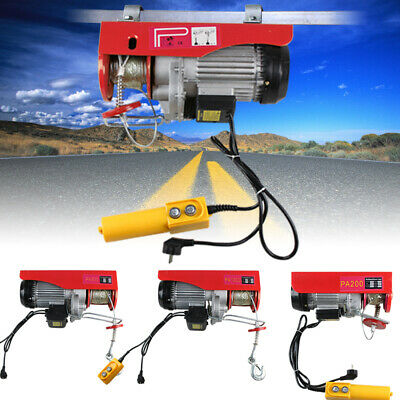 BRAND NEW 200-1000KG 220V Electric Hoist Winch Power Lift Equipmen + HOOK&PULLEY