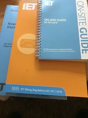 18th Edition Wiring Regulations + IET On-Site Guide + IET Guidance Note 3