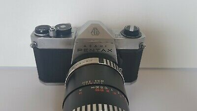 Pentax SP1000 35mm Camera with Carl Zeiss Jena S 1:3.5 f=135 Lens