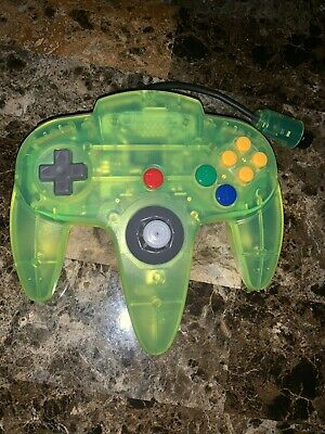 Authentic Original OEM N64 Extreme Lime Green Nintendo 64 Controller - Tested