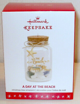 2016 Hallmark Glass Ornament A Day At The Beach The Beach Is My Happy Place