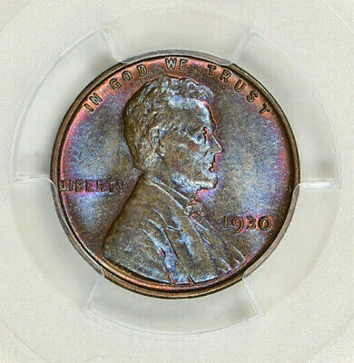 1930,1939-D Lincoln Wheat Cents Pcgs Ms-64 Bn Neon Blue/Rainbow Toning (2 Coins)