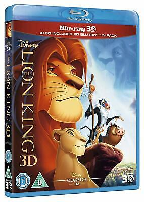 The Lion King (3D + 2D Blu-ray, 2 Discs, Disney, Region Free) *BRAND NEW/SEALED*