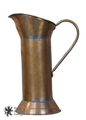 Antique 19th C. 2L Dovetailed Copper Haystack Water Beer Pitcher Jug Goardere