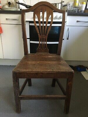 Antique 18th. Century Country Made Heppelwhite Chair