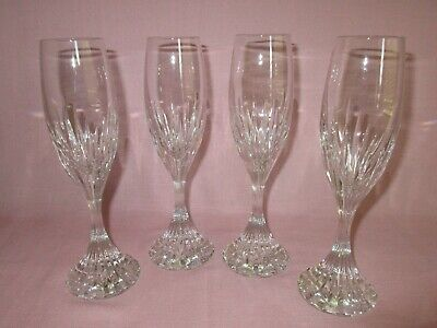 Vintage Baccarat France Crystal Glass 4 Massena Champagne Wine Stems Flutes 8.5""