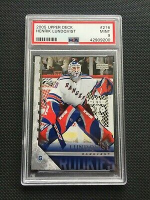 2005 Upper Deck Young Guns Henrik Lundqvist Rookie Rc 216 Psa 9