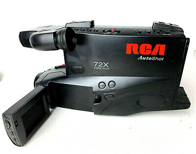 Vintage Full Size RCA VHS Analog Camcorder 72X CC 4352 works / needs battery