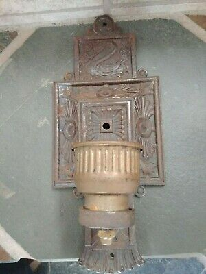 Single Antique Cast Iron Sconce by Moe Bridges deluxe graphics on this treasure