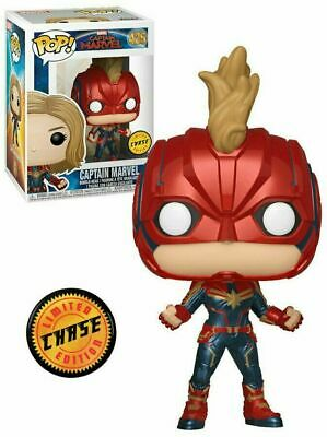 Funko POP! Marvel: Captain Marvel Masked CHASE #425 New In Box in Protector