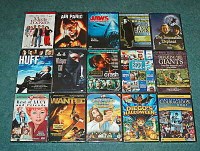 Assorted 15 DVD Lot NEW Childrens Drama Comedy Horror Adventure Biblical SEALED