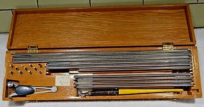 Vintage K &E Keuffel Esser Leroy Lettering Set Drafting Kit Clean Scriber Tracer