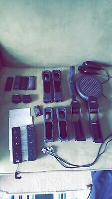 Black Remote Wiimote Nunchuck Controller Set Motion Combo lot for Nintendo Wii