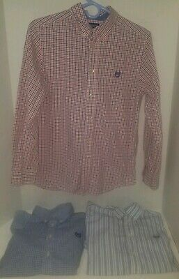 Nice Youth Boys Lot Of 3 Ralph Lauren Polo Chaps Dress Shirts Large 14/16 Church