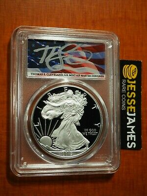 2019 W Proof Silver Eagle Pcgs Pr70 Flag Cleveland Congratulations Set First Day