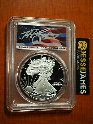 2019 W Proof Silver Eagle Pcgs Pr70 Flag Cleveland First Day Of Issue Fun Show