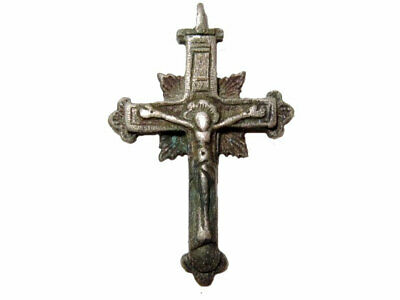 Outstanding Post Medieval Pectoral Reliquary Orthodox Silver Cross+++
