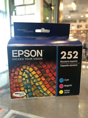 New Genuine OEM Epson 252 Color Ink Cartridges Combo Pack Set - Exp. 3.2021
