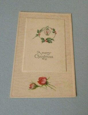 Vintage Merry Christmas Holiday Peek-a-Boo Postcard Greeting Card Opens on Top