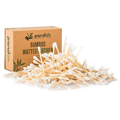 pandoo Bamboo Cotton Buds | Stable & Durable Cotton Swabs Made from Organically