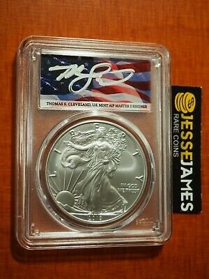 2019 W Burnished Silver Eagle Pcgs Sp70 Flag Cleveland First Day Of Issue Fdi